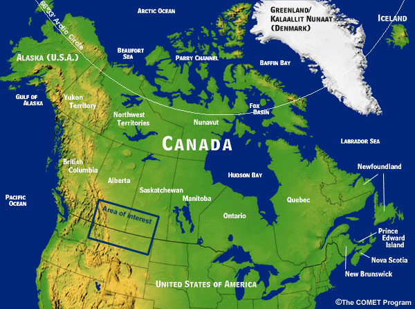 Map Of Canada Mountains.Alberta Clipper Case Exercise